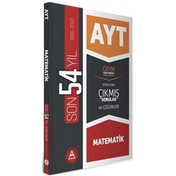 A Yayınları AYT Matematik Son 54 Yıl Konu Konu Çıkmış Sorular ve Çözümleri