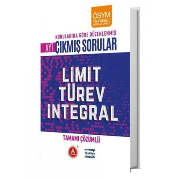 A Yayınları AYT Limit Türev İntegral Tamamı Çözümlü Çıkmış Sorular