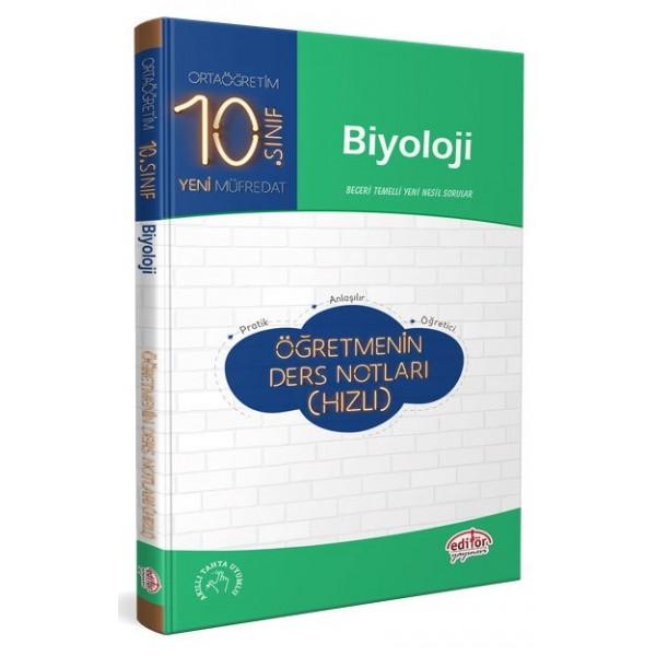 Editör 10. Sınıf Biyoloji Öğretmenin Ders Notları