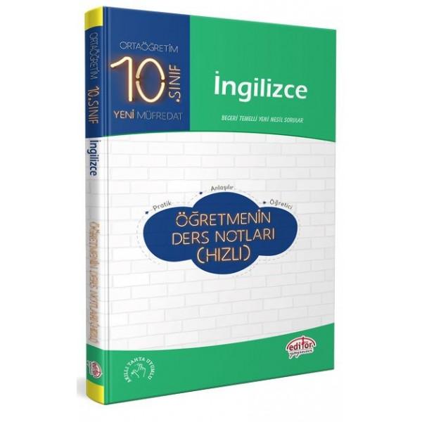Editör 10. Sınıf İngilizce Öğretmenin Hızlı Ders Notları