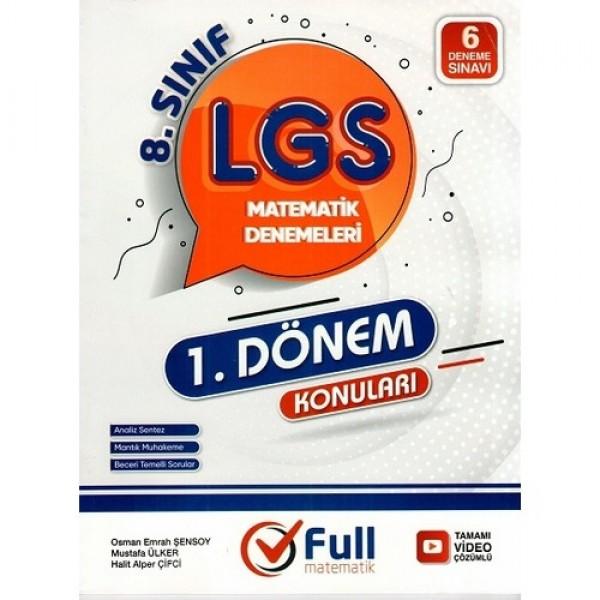 8. Sınıf LGS 1. Dönem Matematik 6 lı Denemeleri Full Matematik Yayınları